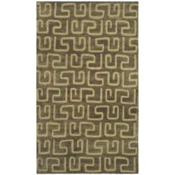 Safavieh Handmade Puzzles Brown/ Gold New Zealand Wool Rug (9'6 x 13'6)
