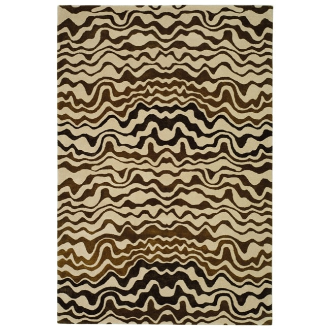 Safavieh Handmade Tribal Beige New Zealand Wool Rug (3'6 x 5'6')