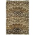 Handmade Tribal Beige New Zealand Wool Rug (3'6 x 5'6')