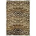 Safavieh Handmade Tribal Beige New Zealand Wool Rug (3'6 x 5'6')