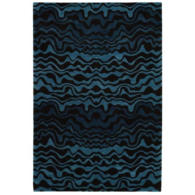 Safavieh Handmade Tribal Blue New Zealand Wool Rug (3'6 x 5'6')
