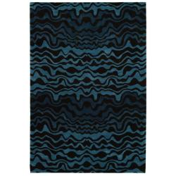 Handmade Tribal Blue New Zealand Wool Rug (8'3 x 11')