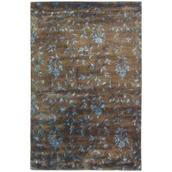 Handmade Tranquility Brown New Zealand Wool Rug (5'x 8')