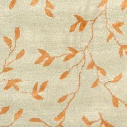 Safavieh Handmade Tranquility Light Green New Zealand Wool Rug (5'x 8')