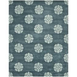 Safavieh Handmade Medallion Blue New Zealand Wool Rug (9'6 x 13'6)