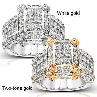 Annello 14k Gold 3ct TDW Diamond Ring (H-I, I1-I2)