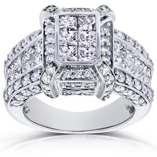 Annello 14k White Gold 3ct TDW Diamond Ring (H-I, I1-I2)