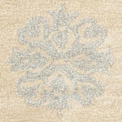 Safavieh Handmade Medallion Beige New Zealand Wool Rug (2' x 3')