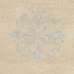 Handmade Medallion Beige New Zealand Wool Rug (2'6 x 8')