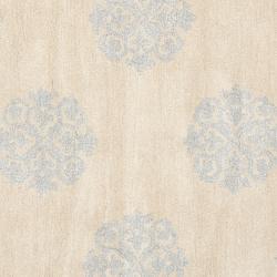 Safavieh Handmade Medallion Beige New Zealand Wool Rug (8' Round)