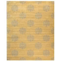 Safavieh Handmade Medallion Beige New Zealand Wool Rug (9'6 x 13'6)