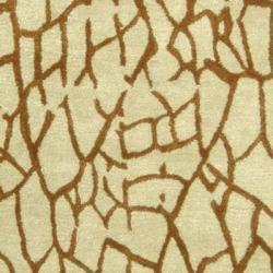 Safavieh Handmade Desert Light Green New Zealand Wool Rug (3'6 x 5'6')