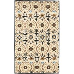 Handmade Gramercy Ivory New Zealand Wool Rug (3'6 x 5'6')