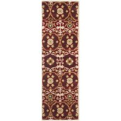 Handmade Gramercy Red New Zealand Wool Rug (2'6 x 8')