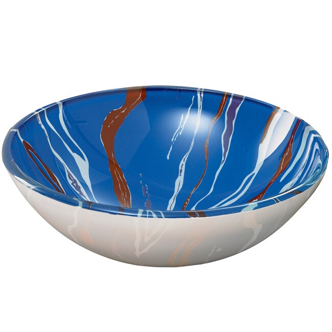 Swirl Tempered Glass Vessel