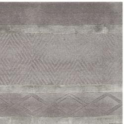 Handmade Metro Grey New Zealand Wool Rug (2'6 x 12')