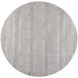 Handmade Metro Grey New Zealand Wool Rug (6' Round)