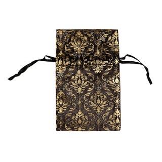 48 pcs Organza Gold Damask Jewelry Drawstring Pouches Gift Bags 2.75 x 3 inch