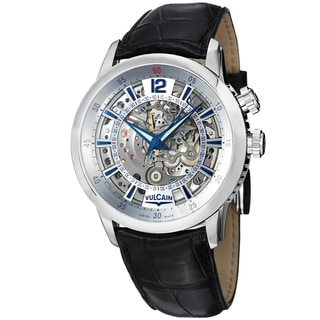 Vulcain Men's 'Anniversary Heart' Skeleton Dial Mechanical Watch
