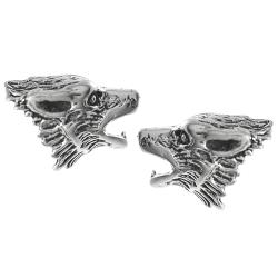 Tressa Sterling Silver Howling Wolf Stud Earrings
