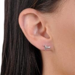 Tressa Collection Sterling Silver Hummingbird Stud Earrings