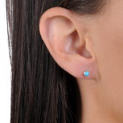 Tressa Sterling Silver Genuine Turquoise Stud Earrings