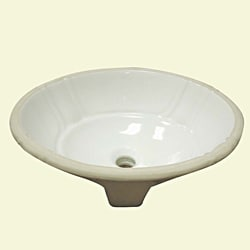 Decorative Undermount Biscuit Lavatory With Overflow