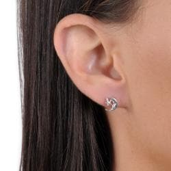 Tressa Sterling Silver Man in the Moon and Star Stud Earrings