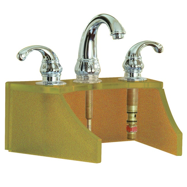Tempered Glass Frosted Copper Faucet Stand