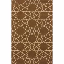 nuLOOM Handmade Marrakesh Trellis Brown Wool Rug (7'6 x 9'6)