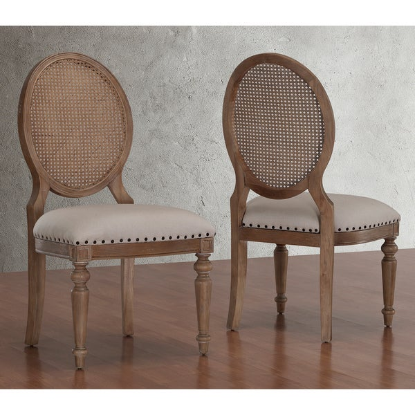 oak cane back dining chairs set of 2 room modern furniture pc ebay