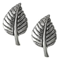 Tressa Collection Sterling Silver Leaf Stud Earrings