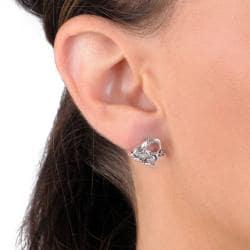 Journee Collection  Sterling Silver Giraffe Stud Earrings
