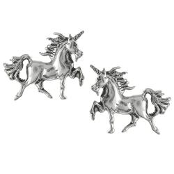 Tressa Collection Sterling Silver Unicorn Stud Earrings
