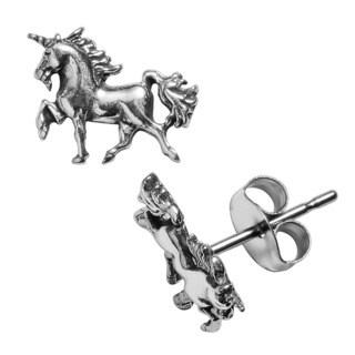 Journee Collection Sterling Silver Unicorn Stud Earrings