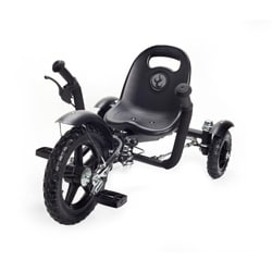 Mobo Tot A Toddlers Ergonomic Three Wheeled Black Cruiser