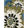 Alliyah Hand-tufted Amber/ Green Wool Rug (5' x 8')