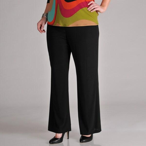 AnnaLee + Hope Women's Plus Black Pants