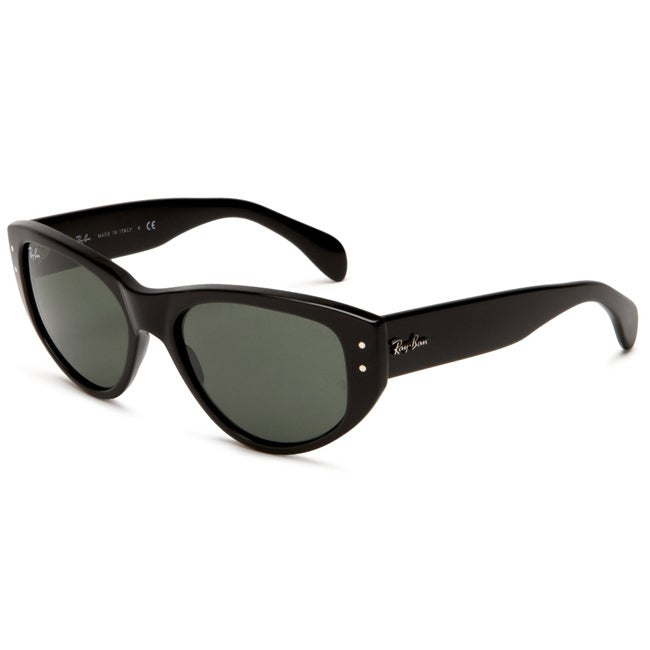 Ray-Ban RB 4152 Vagabond 601 Black Plastic Cat Eye Sunglasses