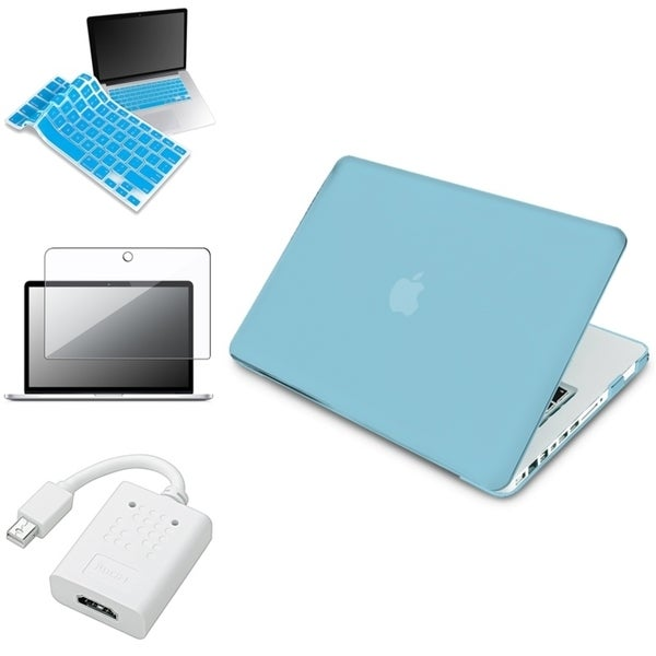 INSTEN Blue Laptop Case Cover/ Skin/ HDMI Adapter/ Protector for Apple Macbook Pro 13-inch