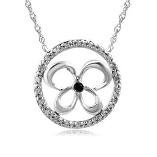 Bridal Symphony 10K Gold Diamond Accent Circle Butterfly Necklace