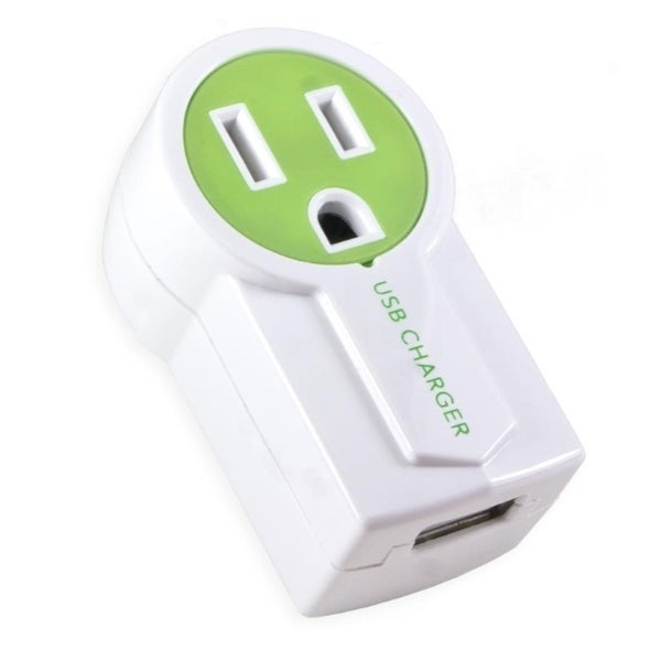 Connectland Green Single Plug Wall Electrical Outlet
