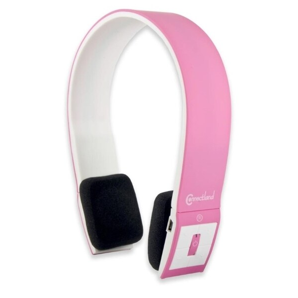Connectland Pink Bluetooth v2.1 EDR Wireless Headphone with Microphone