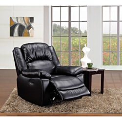 Miter Black Bonded Leather Match Recliner