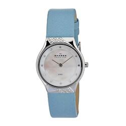 Skagen Women's MOP Element Dial Sky Blue Strap Watch