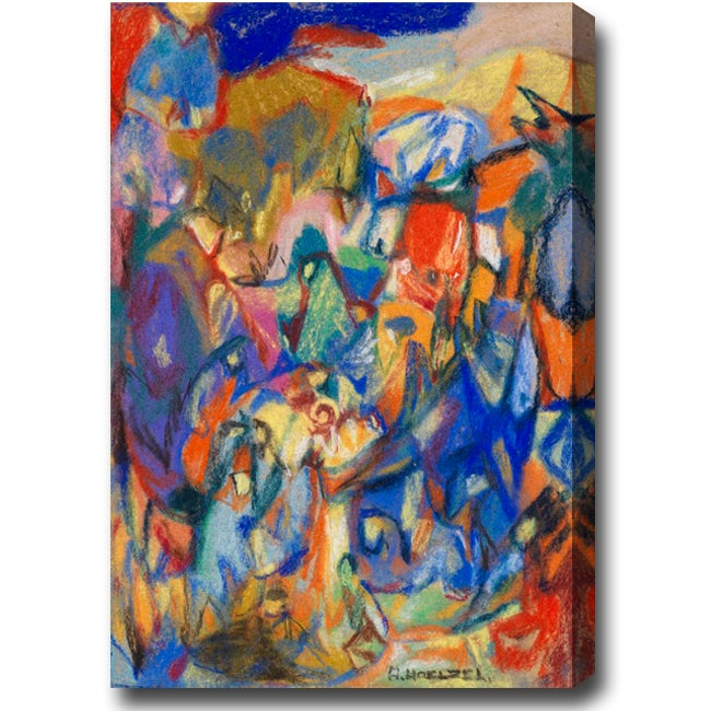 'Gathering' Abstract Oil on Canvas Art