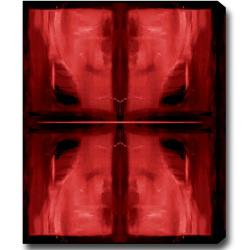 'Dark Red Shadow' Abstract Oil on Canvas Art