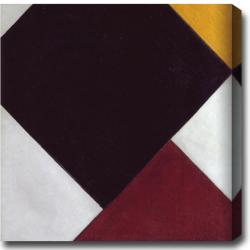 Theo van Doesburg 'Composition' Abstract Oil on Canvas Art