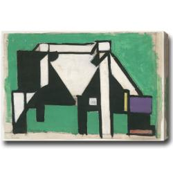 Theo van Doesburg 'Cow' Abstract Oil on Canvas Art