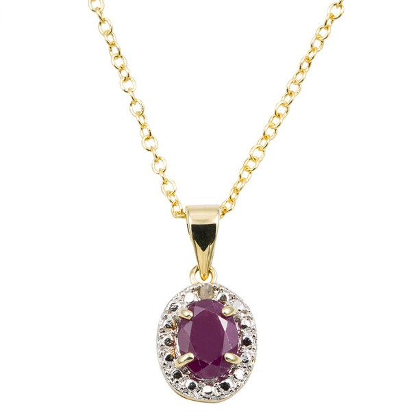 Dolce Giavonna 14k Gold Overlay Gemstone/ Pearl and Diamond Birthstone Necklace (7 mm)